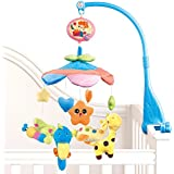 NextX Flash B201 Baby Boy & Girl Bedding Crib Musical Mobile with Hanging Rotating Soft Colorful Plush Dolls, Animal Friends, Electric Music Box 20 melodies Educational Toy