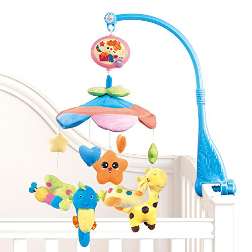 New Baby Crib Mobile (NextX Flash B201 Baby Bedding Crib Musical Mobile with Hanging Rotating Soft Colorful Plush Dolls, 20 Melodies)