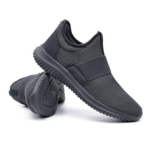 Sportive Lacci Dunkelgrau Da Per Senza Correre dd Sneakers Scarpe Uomo Zocavia 1OxTBB