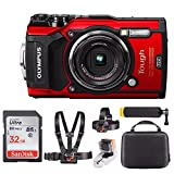 Olympus TG-5 Digital Camera (Red) + 32GB & Adventure On Water Action Bundle