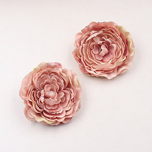 Artificial Silk Flower 9cm Tree Peony Head For Wedding Decoration DIY party festival Home Decor Scrapbooking Handmade Craft Accessories Wreath Flower 10pcs (light pink) (Cake Wedding Peony)