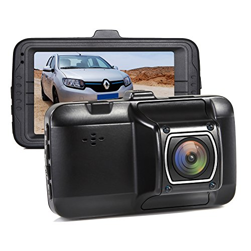 Mini Dash Camera, Sendowtek 1080P Vehicle Car Camcorder 170° Wide Angel Dashboard Cam Screen with G Sensor Parking Mode, Loop Recording
