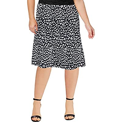 MICHAEL Michael Kors Womens Metallic Animal Print A-Line Skirt