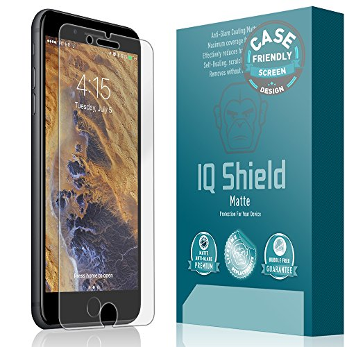 iPhone 7 Plus Screen Protector [Case Friendly], IQ Shield Matte Full Coverage...