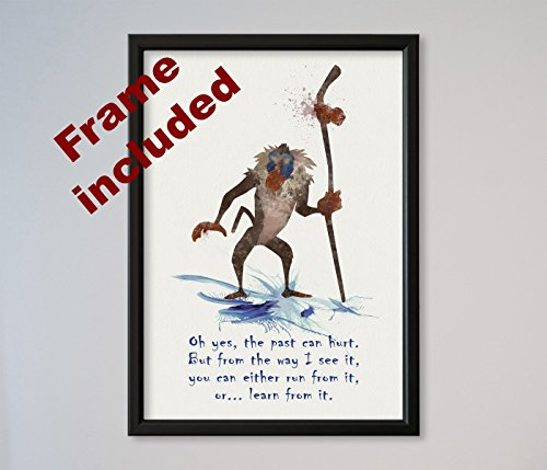 """The Lion King Rafiki Quote 9"""" x 12 3/8"""" FRAMED Poster"""