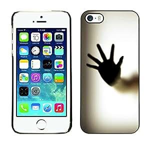 TECHCASE**Cubierta de la caja de protección la piel dura para el ** Apple iPhone 5 / 5S ** Hand Palm Window Fingerprint Art Body