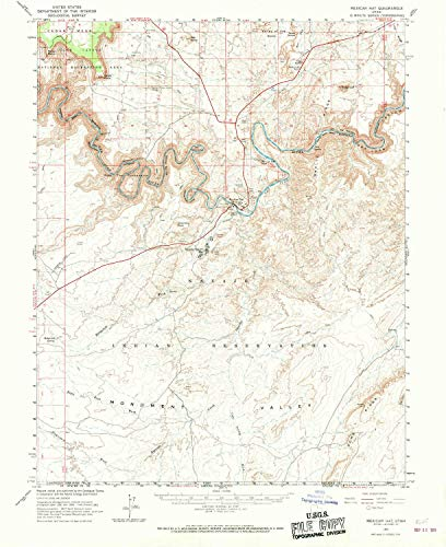 (YellowMaps Mexican Hat UT topo map, 1:62500 Scale, 15 X 15 Minute, Historical, 1963, Updated 1969, 20.8 x 17 in - Paper)