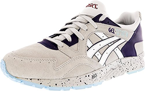 ASICS Womens Gel-Lyte V-H69BK Low Top Lace up Running, Soft Grey/White, Size 6.0 Review