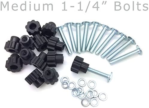 Pet Carrier Bolt Fasteners – Black Nylon Nuts