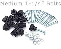 Pet Carrier Bolt Fasteners - Black Nylon Nuts (20 pack, 1-1/4\
