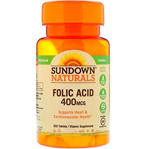 Sundown Naturals Folic Acid 400mcg – 350 Tablets (2 Pack) For Sale