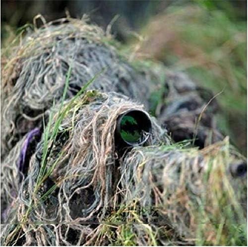 2019 ギリースーツ戦争ゲーム屋外ライフル狩猟インチ弾性合成ラインカラーミックス迷彩ロープ