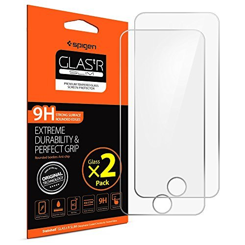 iPod Touch 6th/5th Screen Protector, Spigen® [Tempered Glass] [2 Pack] for Apple iPod Touch 6th/iPod Touch 5th