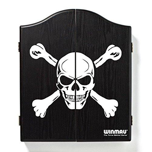 WINMAU DARTS DART BOARD CABINET BLACK SKULL