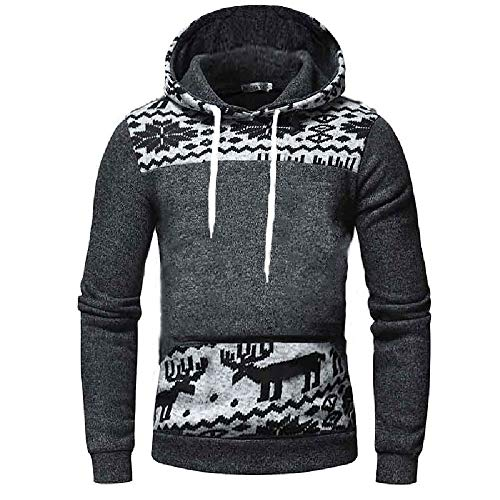 WUAI Men's Lightweight Jacket Hoodie Casual Sweatshirt Slim Fit Solid Color with Front Pocket Outwear Tops (US Size S = Tag M, Gray-A)]()