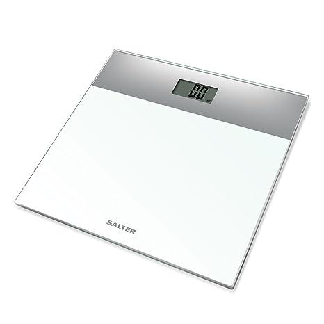 Salter 9206 SVWH3R Báscula de baño electrónica en vidrio templado, capacidad 180 KG, 15