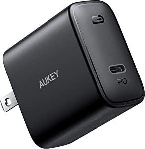 USB C Charger, AUKEY Swift 30W PD 3.0USB C Wall Charger with Foldable Plug, Power Delivery Fast Charger for iPhone SE, iPhone 11 Pro Max, MacBook, iPad Pro, AirPods Pro, Google Pixel 4 XL, Switch