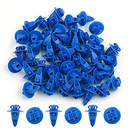7x7mm Color Name: J x50 8x6mm Fastener & Clip 50Pcs Beige Diameter Car Door Fastener Clips Fender Rivet Bumper Shield Fit Hole 7x6.5mm - 7x6mm 7x8mm