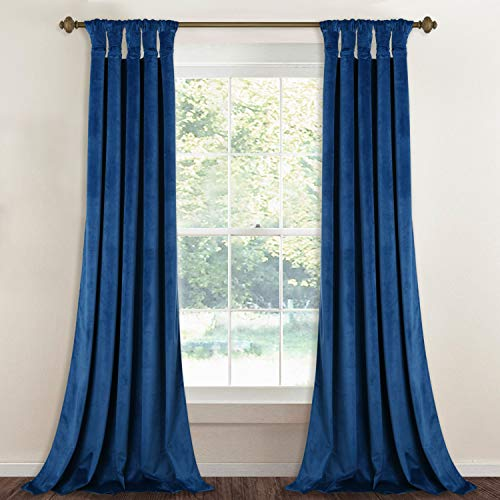 StangH Blackout Velvet Curtain Drapes - Elegant Home Decoration Noise & Light Reducing Privacy Protect Panel Drapes with Twist Tab Top for Bedroom, 52