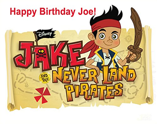 Jake Neverland Pirates Personalized Edible Cake Image Birthday Party NIP (Jake And The Neverland Pirates Bday Cake)