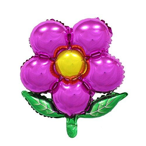 MK Shoppy Flowers Aluminum Balloons Birthday Party Balloons Wholesale Children's Toys (Rose Red)