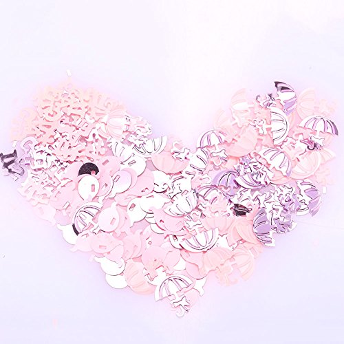 TOPmountain Wedding Paper Scrap Confetti 1 pack Party Table Sprinkles Wedding Supply for Party Decor Pink