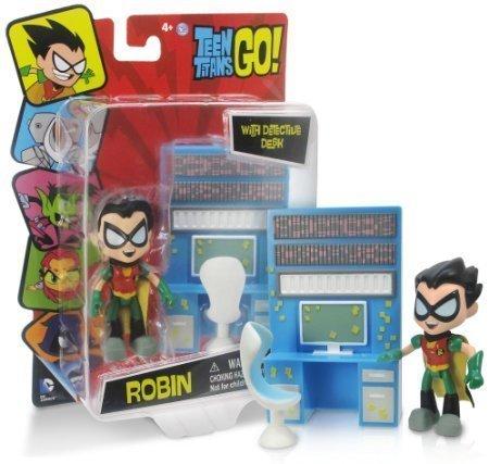 """Robin ~2.5"""" Mini-Figure w/ Detective Desk: Teen Titans Go! Figure with Accessory Series"""