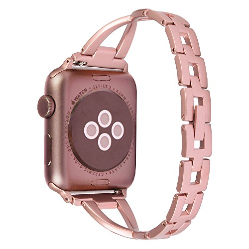Lwsengme Apple Watch Band,Lwsengme Steel Wrist Band with Adjustable Buckle for Apple iWatch/New Apple iWatch Series 2/ Apple Watch Series 1/Nike+ (42mm-Rose Gold-02) Photo #4