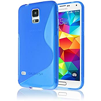 samsung galaxy s5 colors blue. samsung galaxy s5 case, phone case [rubber] by cable and colors blue
