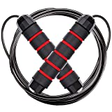 Jump Rope for Speed and Agility Training | Premium Quality Skipping Rope - Anti-Slip Foam Handles...
