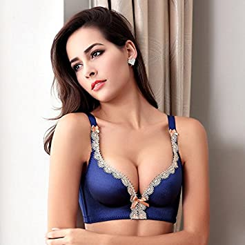 52afe6b0ba Generic Female Underwear small breast Push Up Bra minimizer deep vs 5cm  thick Padded brassiere lace bras  Amazon.in  Home   Kitchen