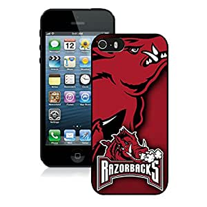 Unique And Durable Designed Case With Southeastern Conference SEC Football Arkansas Razorbacks 2 Black For iPhone 5S Phone Case