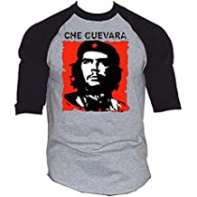New Che Guevara Men's Baseball T-Shirt Black/Gray S-3XL