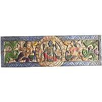 Zen Altar Vintage Hand Carved Headboard Vishnu hindu god the preserver, Meditation, Yoga , Puja ROOM, Wall Hanging Zen Decor