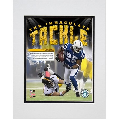- Photo File Pittsburgh Steelers Ben Roethlisberger Immaculate Tackle Matted Photo