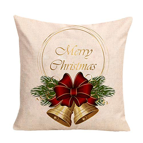 Merry Christmas Decorative Cushion Cover Square Throw Pillow Case 18