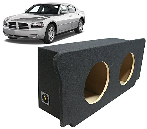 Compatible with 2006-2010 Dodge Charger Dual 10 Subwoofer Enclosure Sealed Sub Box