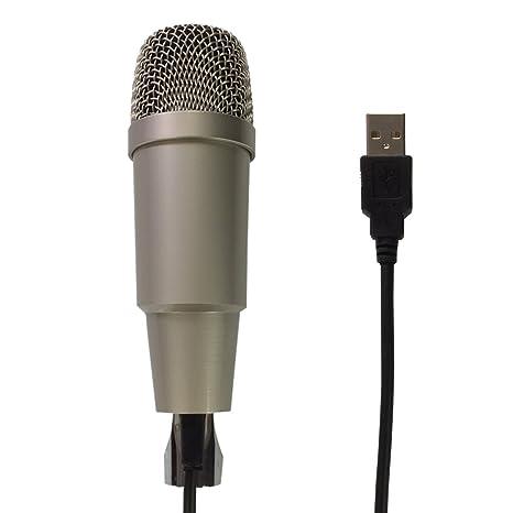 schutton ST-20 escritorio USB micrófono de condensador, Plug & Play Home Studio USB