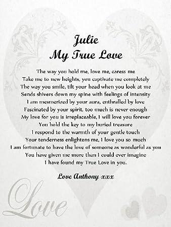 Amazonde Personalisierbar Romantisches Gedicht Scroll