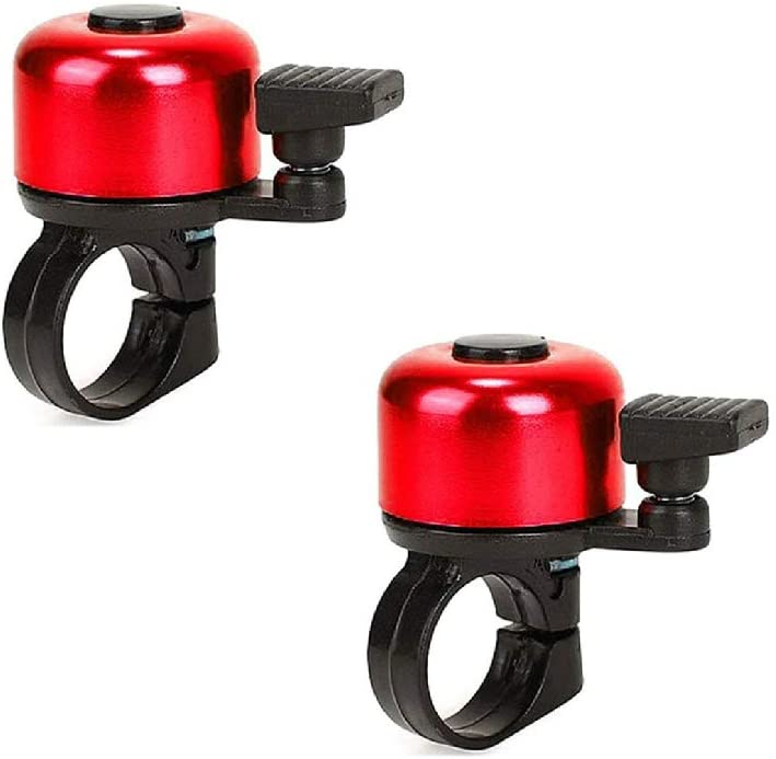 Bike Bell Aluminum Alloy Mini Bicycle Ring Bell 2Pcs Mini Bicycle Bell Unisex