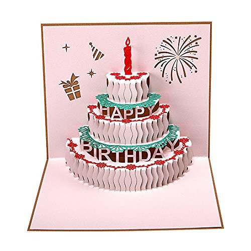 Heartmoon 3d pop up cards birthday cake greeting cards birthday heartmoon 3d pop up cards birthday cake greeting cards birthday cards fathers day cards thank you cards for women men girls her sister congratulation cards m4hsunfo
