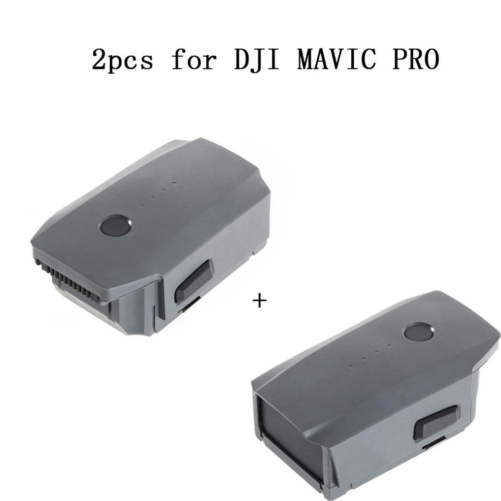 Leewa 2PCS 3830mAh Intelligent Flight Battery For DJI Mavic Pro Quadcopter Drone (8X8X3cm)