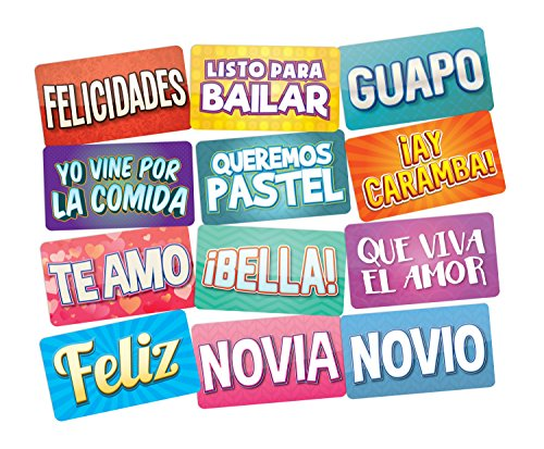 PHOTO BOOTH PROPS IN SPANISH Perfect Photo Booth Prop For Any Event, All Spanish Terms Can Be Used for Quinceaneras Weddings Birthday Parties and More!