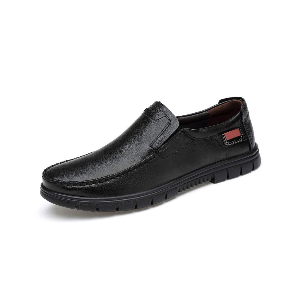 WHL.LL Herren Plus Samt Rutschfest Freizeit Business-Schuhe Atmungsaktiv Gemütlich Weicher Boden Verschleißfest Alte Schuhe von mittlerem Alter