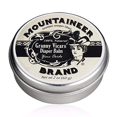 Granny Vicars' Diaper Balm with Zinc Oxide by Mountaineer Brand: All-Natural Healing, Soothing, and Rash Prevention