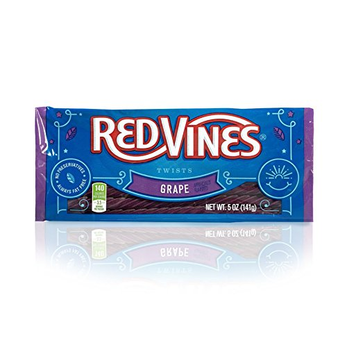 Red Vines Grape Licorice Twists 5oz Tray (12 Pack)