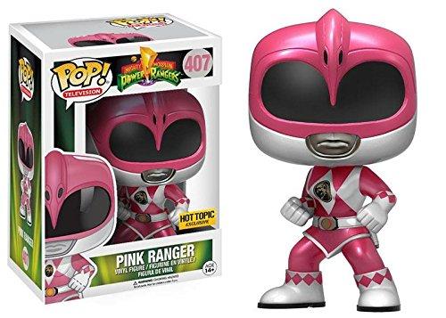 Funko Pop! Mighty Morphin Power Rangers, Pink Ranger Metallic Exclusive Vinyl Figure (Pink Ranger Funko Pop compare prices)