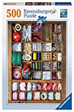 jigsaw puzzles sewing - Ravensburger The Sewing Box Puzzle (500-Piece)