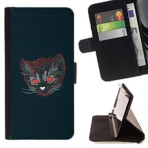 Momo Phone Case / Flip Funda de Cuero Case Cover - Gato psicodélico;;;;;;;; - HTC Desire 820