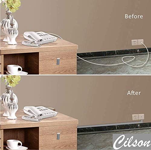 Canaleta para cables con kit de accesorios CILSON autoadhesiva, conductos para cables angulares
